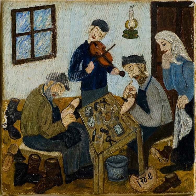<b>The Shoemaker and his Son</b> - Mendl Bosyk, Abraham Bosyk the shoemaker