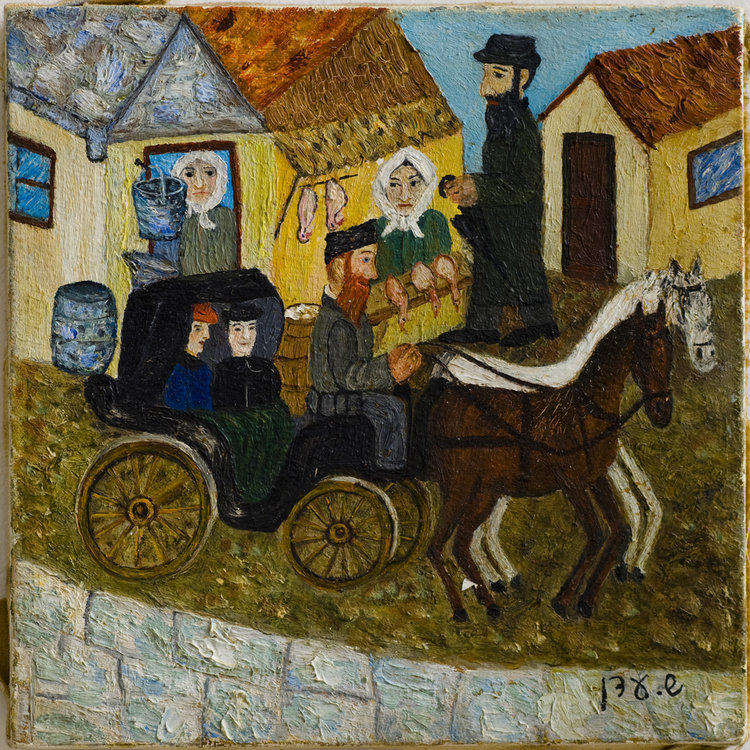 <b>The Carriage Owner</b> - The few well to do residents booked Shmill Der Royter (Shmill the red head) carriage. The rest had to walk.