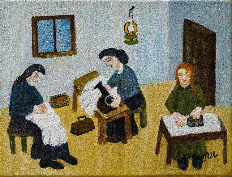 <b>שלוש התופרות</b> - על פי שיר עם ביידיש, שבו התופרת בוכה על כך שהיא תופרת ותופרת אך טרם תפרה לעצמה שמלת כלה.