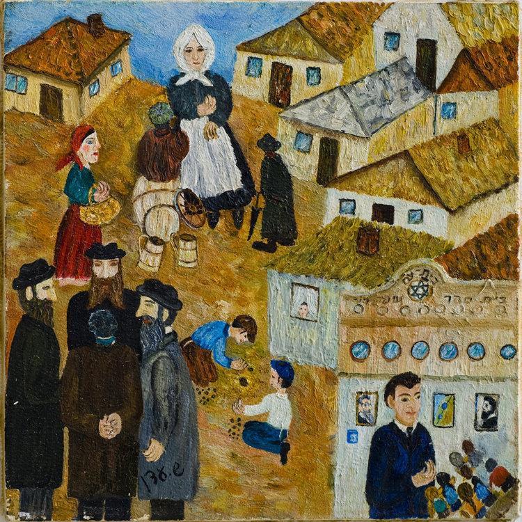 <b>בית הספר העברי תרבות</b> - ילדי משפחות ציוניות למדו עברית בבית הספר תרבות. על הקירות - הרצל ואחד העם, וקופסת קרן קיימת. ברחוב שיחקו הבורחים מבית הספר.